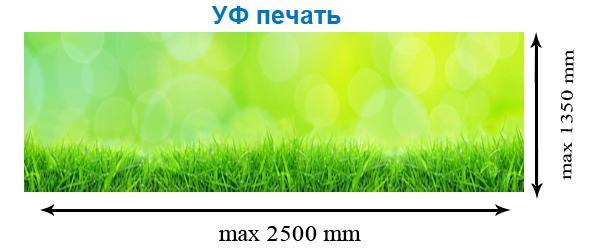 Размеры стеклянных кухонных фартуков