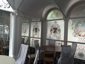 Пескоструй рисунков по амальгаме Glaszur