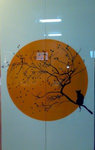 покраска рисунком по RAl на стекле Glaszur Киев Чернигов